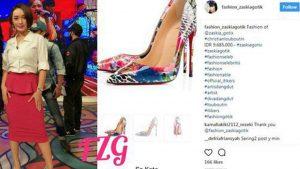 Zaskia Gotik Dinyinyir Netizen Soal Sepatu