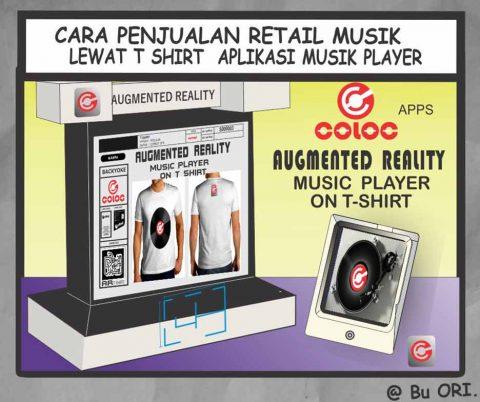 Cara penjualan retail musik lewat tshirt aplikasi musik player
