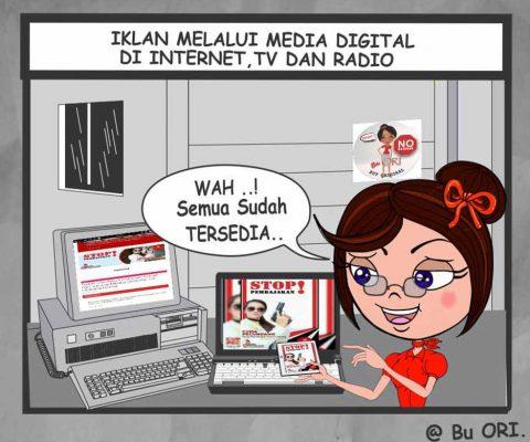 Iklan melalui media digital di internet, tv dan radio