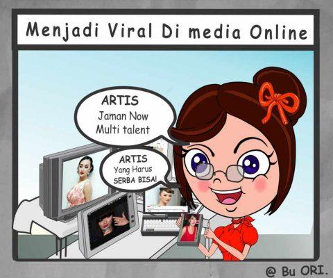 Menjadi viral di media online
