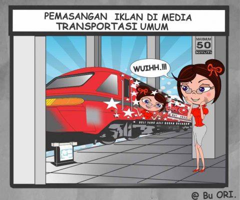 Pemasangan iklan di media transportasi umum