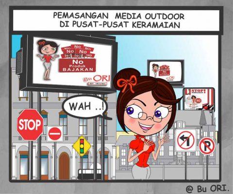 Pemasangan media outdoor di pusat – pusat keramaian