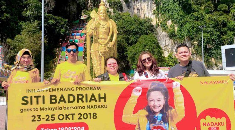 Sibad Temani Pemenang Kuis Nadaku ke Malaysia