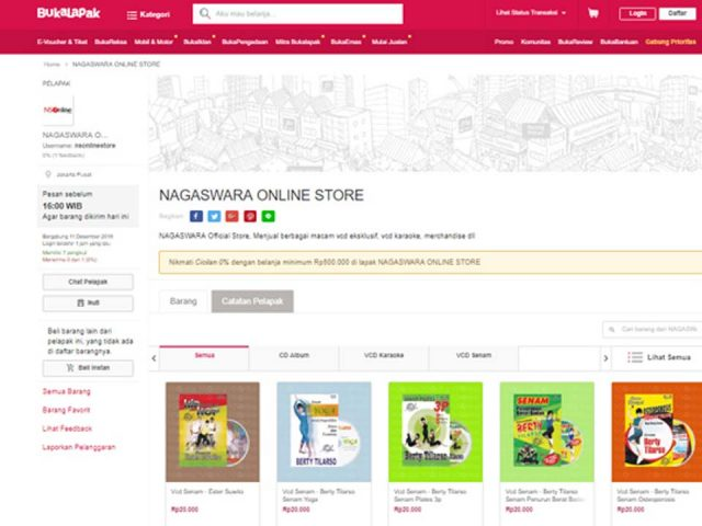 NS Online Store Bukalapak