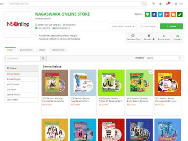NS Online Store Tokopedia