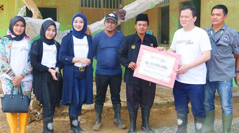 Datangi Ponpes La Tansa di Banten, NAGASWARA Peduli Salurkan Bantuan