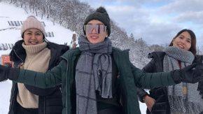 Liburan ke Jepang, Zaskia Gotik Tidur di Atas Salju