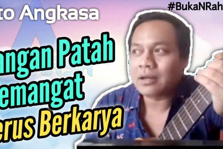 Ato Angkasa sekarang hidup dari tabungan. Semua pasti ada hikmahnya #BukanRahasia