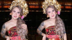 Lihat, Cantiknya DJ Evelin dengan Busana Adat Bali