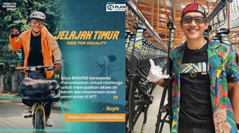 Nugie TDC Cari Donasi Lewat Sepeda