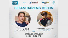 Nantikan Sejam Bareng Delon di Radio Prima 103.8 FM Surabaya