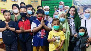 Marisha Putri Berbagi dengan Anak Yatim Jelang Hari Anak Nasional